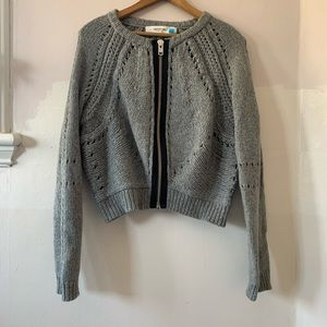ANTHRO Sparrow pointelle sweater cardigan